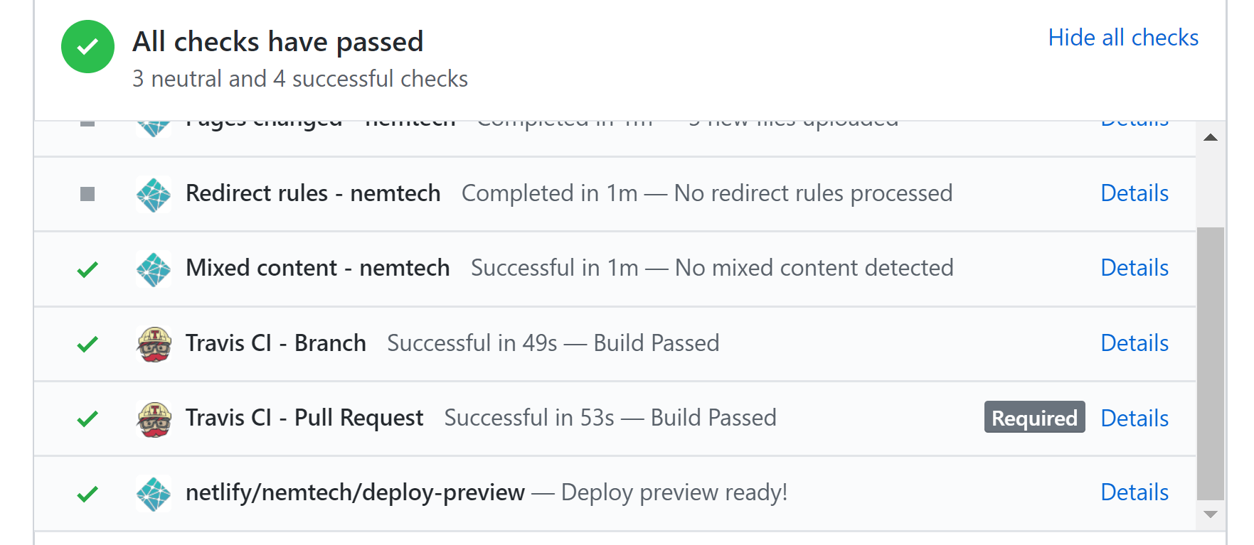 Previewing documentation in pull requests