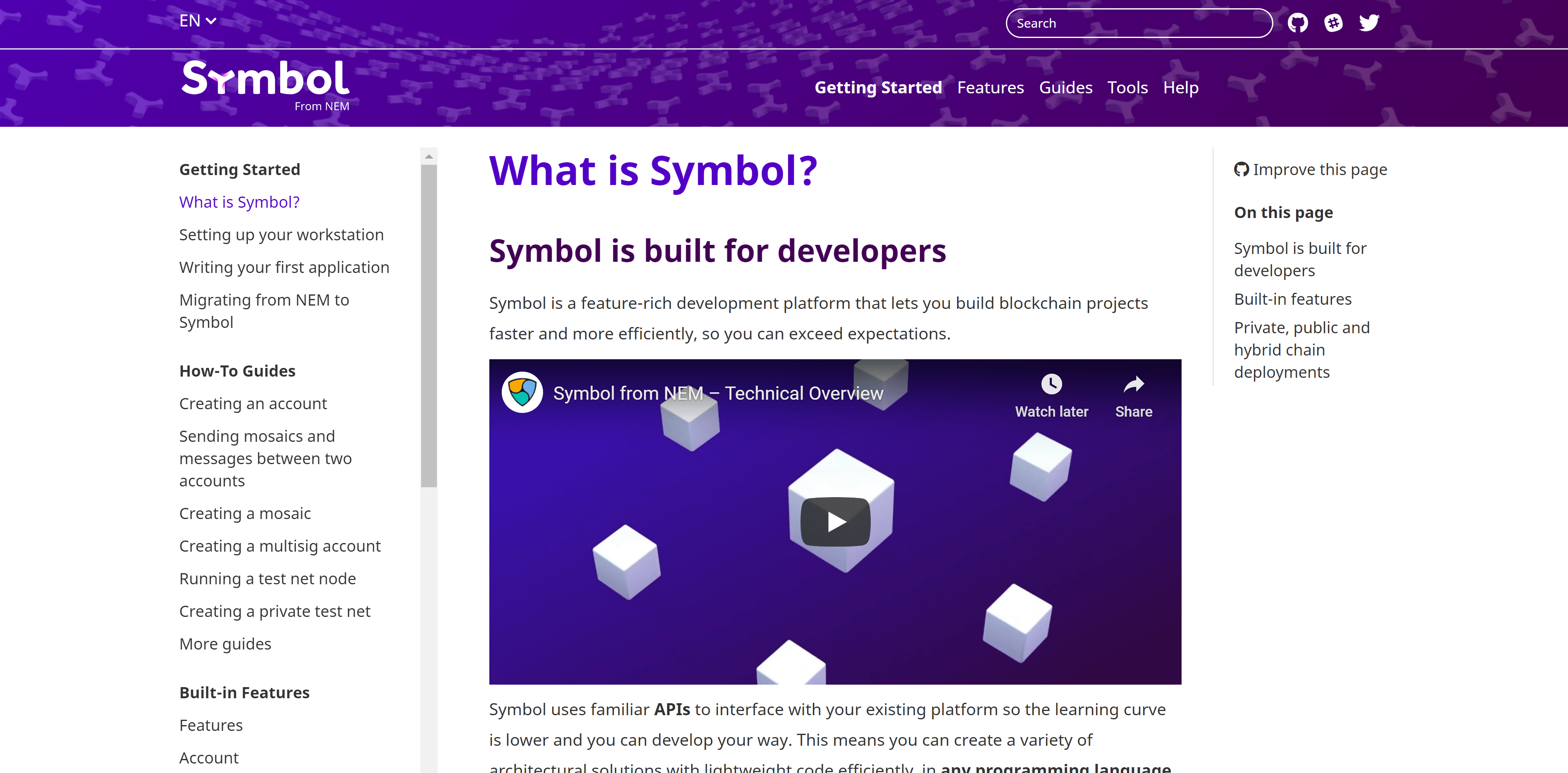 Symbol Documentation